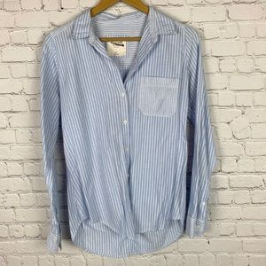 ABERCROMBIE & FITCH Stripped Button Up Top M